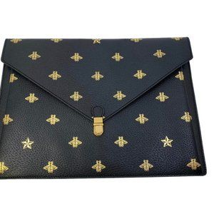 New Authentic Gucci Grained Calfskin Bee Star Port
